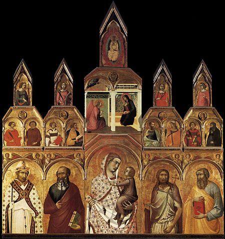 Polittico della pieve di Arezzo,1320 Pietro Lorenzetti. Pietro ha la stessa età di Simone Martini e si forma anche lui nella scuola di Duccio. Si vede che studia la scultura di Giovanni Pisano infatti la sua pittura è più plastica rispetto a quella di Simone Martini