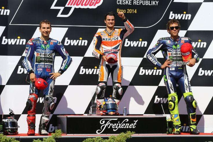Lorenzo, Pedrosa, Rossi, Czech MotoGP 2014