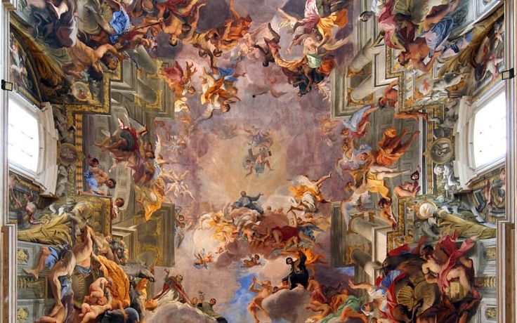 Andrea Pozzo was an Italian Jesuit Brother, Baroque painter and architect, decorator, stage designer, and art theoretician. He was best known for his grandiose frescoes using illusionistic technique called quadratura, in which architecture and fancy are intermixed.