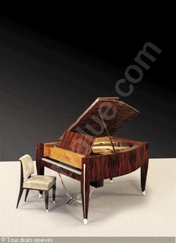 Piano demi-queue et siège. (1924-1925) Jacques-Emile Ruhlmann
