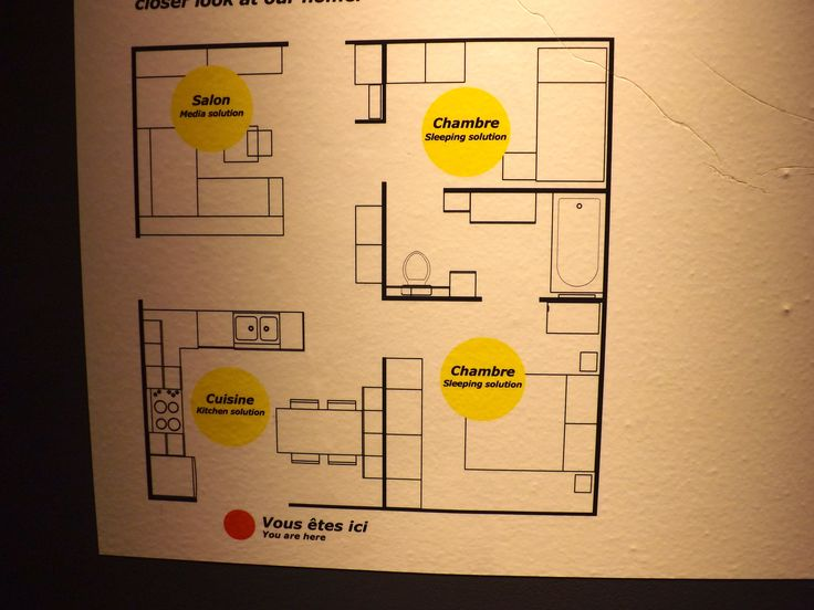 605 sq ft floor plan by ikea little house pinterest for Home design 50m2