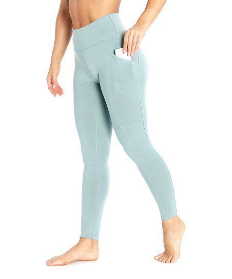 e42e5b70e8 Marika Slate Gray Tummy Control Pocket High-Waist Leggings - Women | zulily