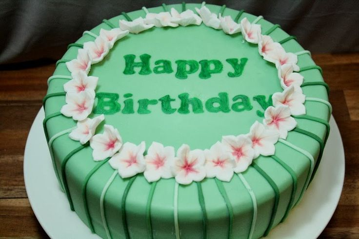 Grüne Geburtstagstorte
