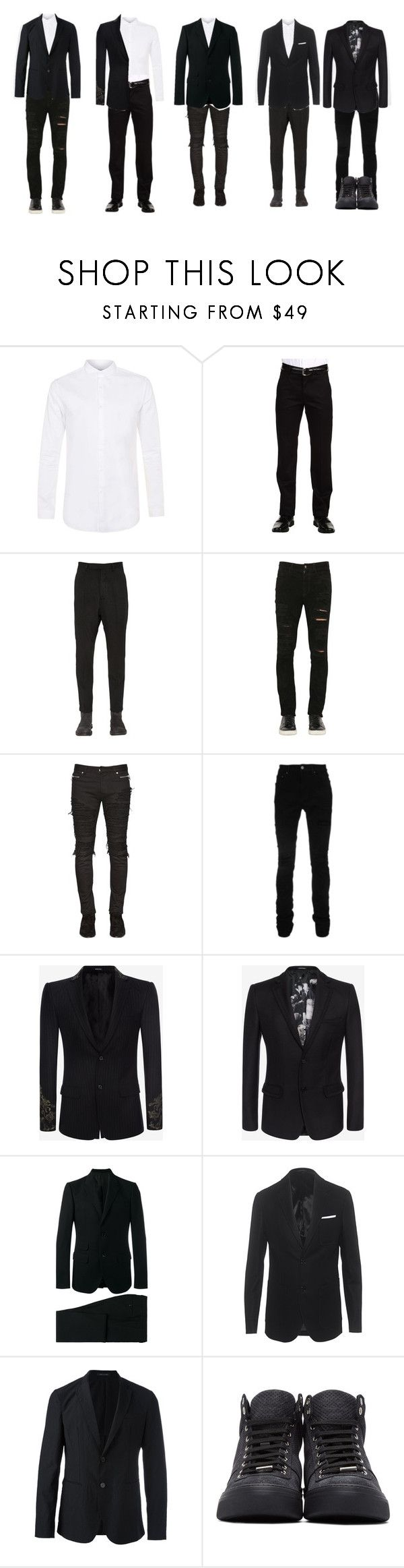 """""""RA5CAL - K-pop Chart Awards"""" by kgroupsofficial ❤ liked on Polyvore featuring Topman, Dockers, Rick Owens, Giorgio Brato, Balmain, AMIRI, Alexander McQueen, Gucci, Neil Barrett and Emporio Armani"""