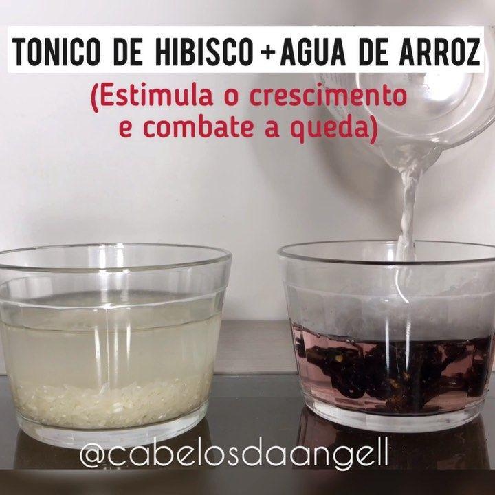 Tonico Caseiro Hibisco Agua De Arroz Oi Oi Anjas Entao Vamos