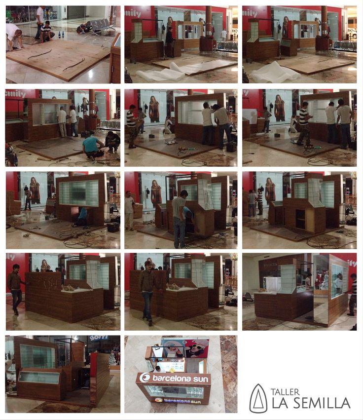 Taller La Semilla. Proceso de ensamblaje de isla comercial en Xalapa, Veracruz, Mexico . Timelapse of assembly pop-up store