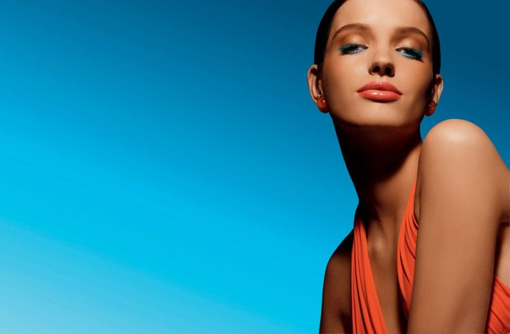 Summer bright makeup   #coral #beauty #turquoise #trucco #orange