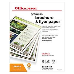 Office Depot Brand Professional Brochure And Flyer Paper Glossy 8 12 x 11  50 Lb Pack Of 100 Sheets by Office Depot & OfficeMax