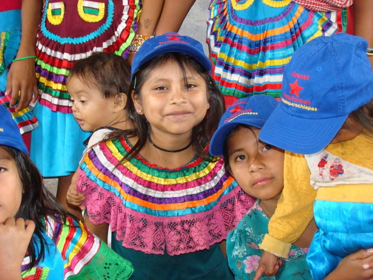 Tojolabal girl at the childcare center sponsored by Schools for Chiapas during the Women's Encounter in the caracol of La Garucha.
