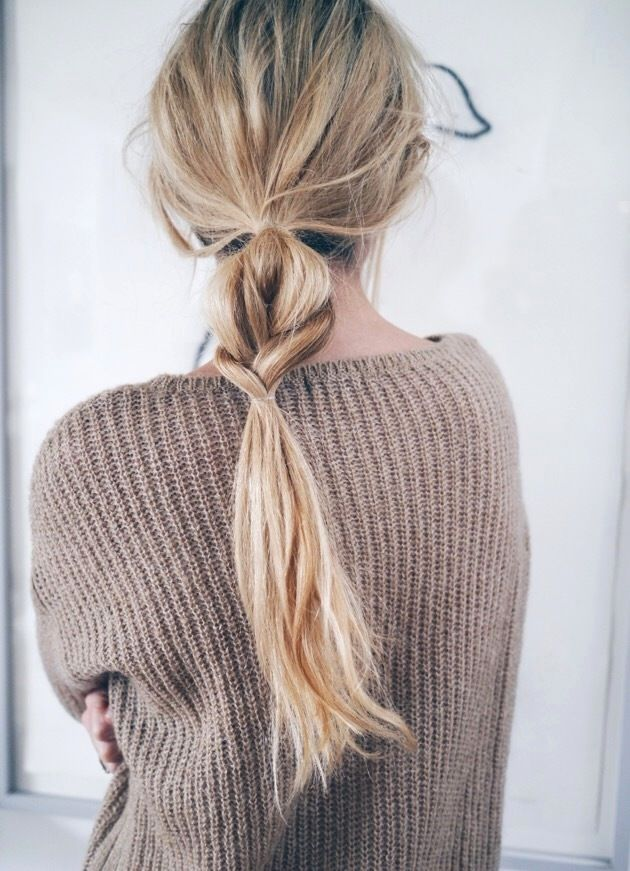 Le Fashion Blog Hair Inspiration Half And Half Wavy Braided Ponytail Brown Textu…