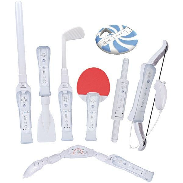 CTA Digital Wi-8SR Nintendo Wii 8-in-1 Sports Pack for Wii Sports Resort (White)