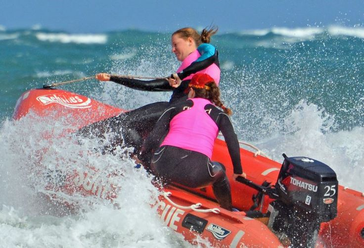 IRB crew training SLSA newcastle - this is what I'm training to do (crewing not driving!)