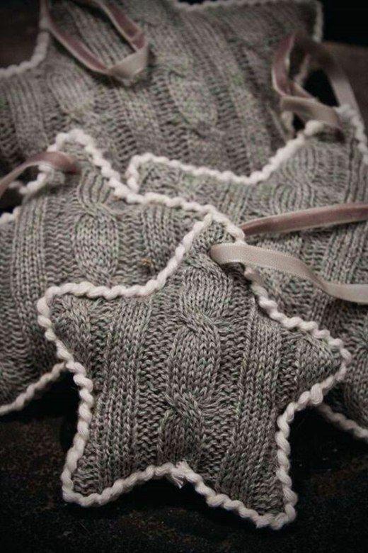 étoiles déco en tricot