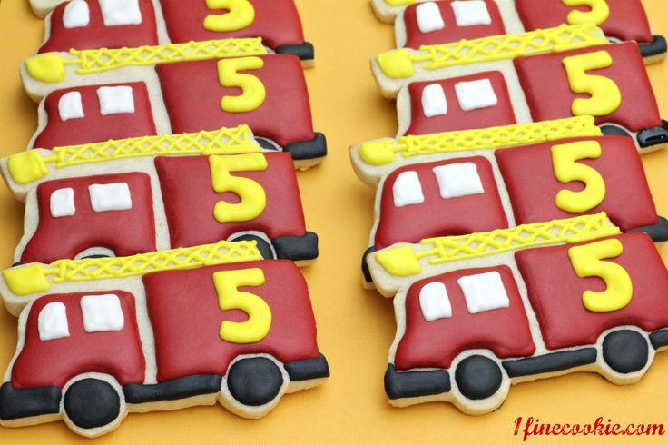 Fire Truck Cookies  http://www.1finecookie.com/2012/05/project-cookies-no-grownups-allowed/Cookies Ideas, Cookies Decor, Birthday Parties, Birthday Boys, Fire Trucks, Google Search, Boys Cookies, Trucks Cookies, Cookies Inspiration
