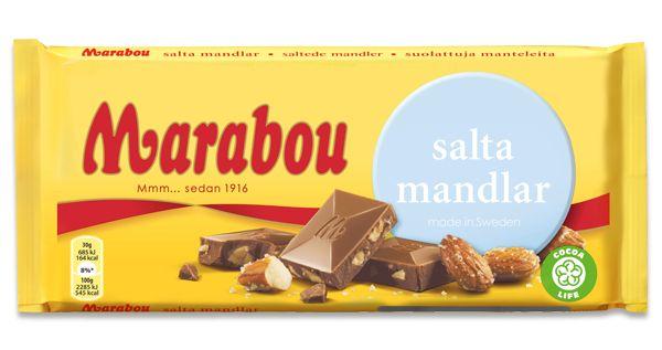 2/5 för lite salt och mandelbitar..Salta Mandlar - Marabou
