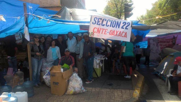 Reparten maestros chihuahuenses más de 500 kilos de ayuda entre contingentes de Oaxaca, Chiapas, Guerrero y…