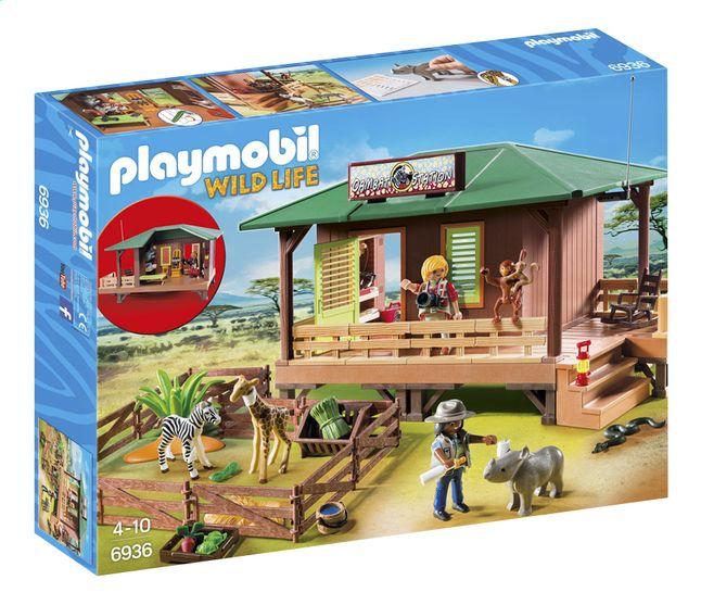 Leid de gewonde dieren uit de savanne naar het gezondheidscentrum (6936) van Playmobil Wild Life. Daar worden ze goed verzorgd, zodat ze snel genezen zijn!