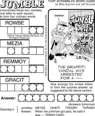 25+ best ideas about Jumble word puzzle on Pinterest | Wedding ...