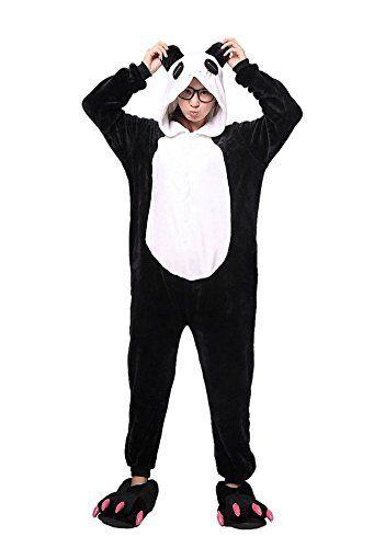 LATH.PIN Adulte Pyjama Animaux Ensemble-Combinaison Pyjama ou Déguisement-Panda Taille M: Tweet Flanelle La taille est un peu plus petite…