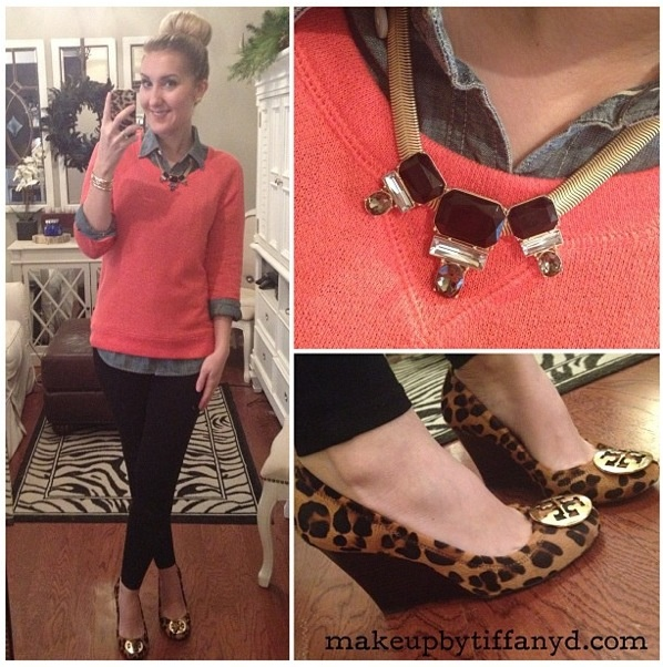 Tory Burch Leopard Wedges