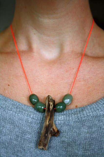 Tyg och otyg.: Nature & Neon necklace.