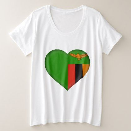 Zambia Flag Plus Size T-Shirt - personalize gift idea special custom diy or cyo