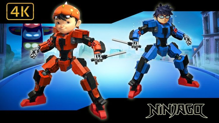 BoBoboi Galaxy Transforms Into LEGO NINJAGO Finger Family Song Boboioby ...