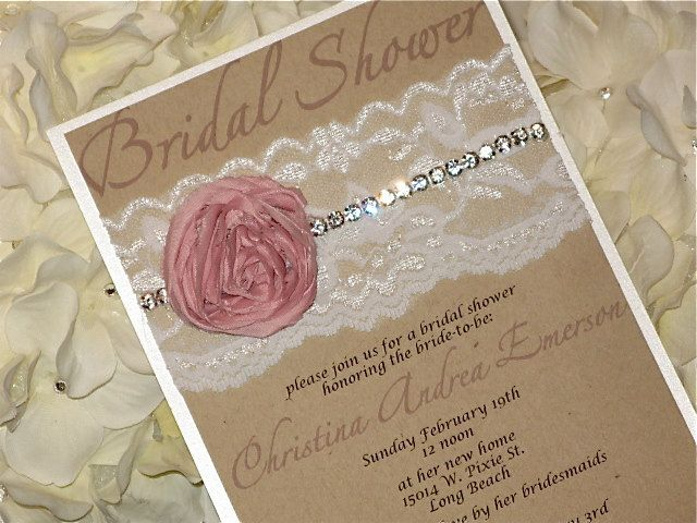 Shabby Chic Bridal Shower Invitation by peachykeenevents on Etsy
