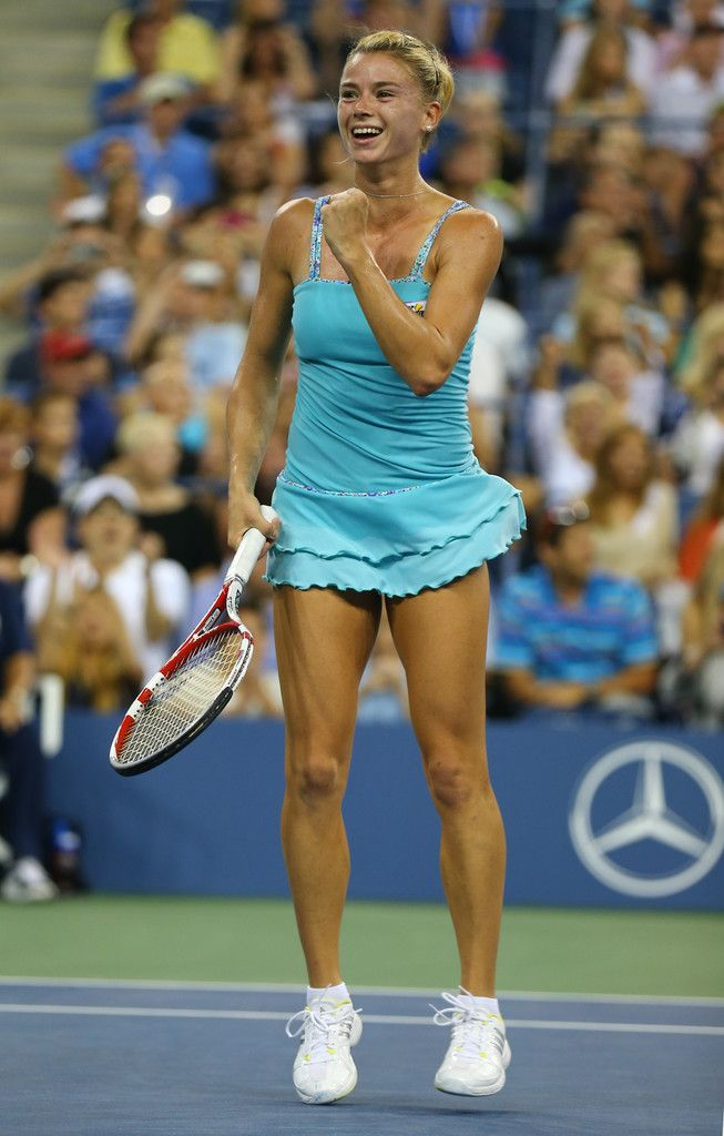 Camila Giorgi at the U.S Open 2013.  Such a breathe of fresh air!  She showed real guts in defeating Wozniacki..