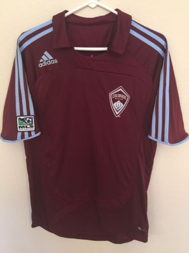 NEW Mens ADIDAS COLORADO RAPIDS Authentic MLS SOCCER Home JERSEY Shirt M