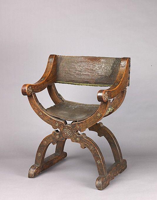 Dante Chair Or Dantesca, Mid 15th Century, MET