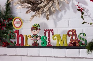 The Merry Christmas Elf Statue brings a touch of whimsy to your shelf! #kirklands #holidaydecor #KirklandsHoliday