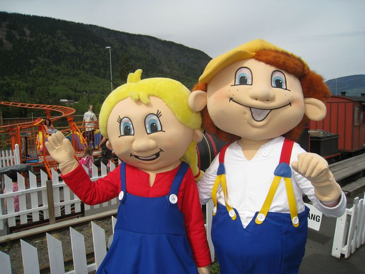 Ola & Hedda - Norway #mascot #costume #character #norway