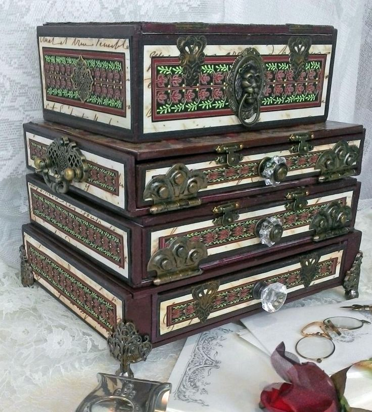 """Artfully Musing: Cigar Box Chest – Video Tutorial – New """"Letters from the Past"""" Collage Sheets & Digital Image Set"""