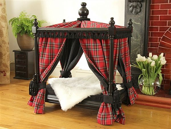 Doggie Couture Shop: Out of Sight Luxury Canopy Dog Beds, in Plain Sight