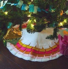 Tutorial Mod Felt Fringe Christmas Tree Skirt