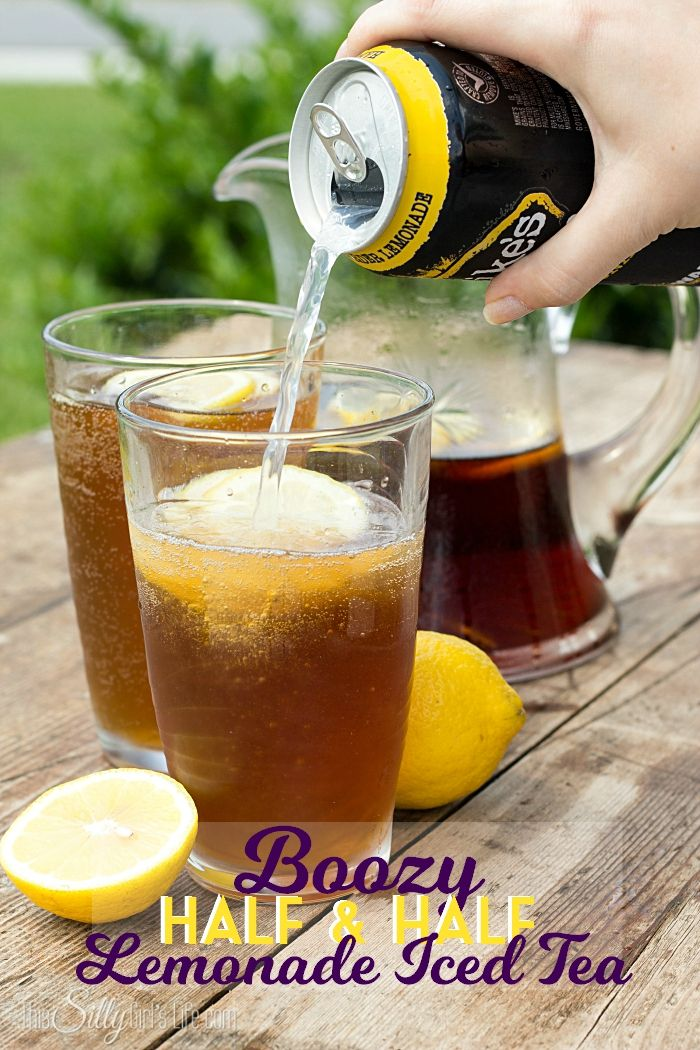 May have to try this...Boozy Half and Half Lemonade Iced Tea, a refreshing twist on a classic drink combo! - ThisSillyGirlsLife.com