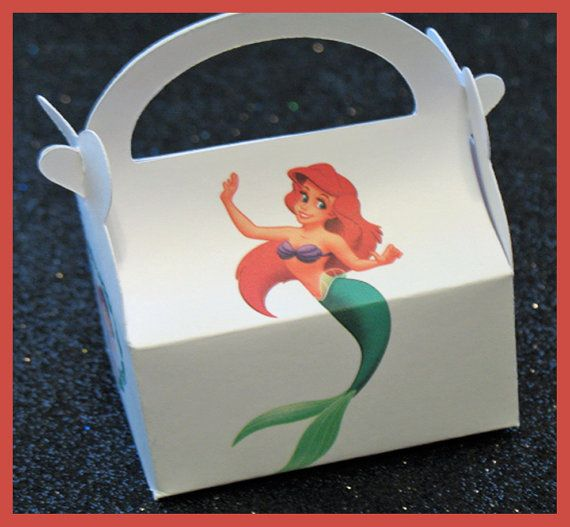 disney ariel and prince eric party favor box by tinygiftboxes, $1.35