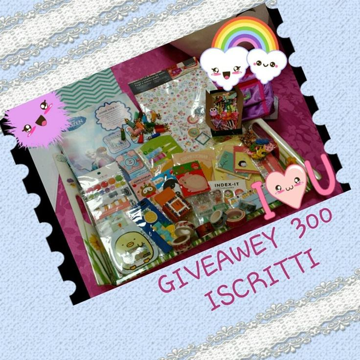 GIVEAWEY 300 ISCRITTI!!! CARTOLERIA A GO GO APERTO DAL 6 AL 30 LUGLIO
