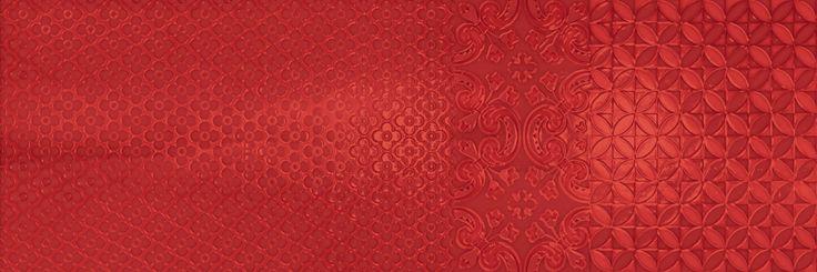 Murale Rosso 25x75 cm. Wall tiles | Aquarelle series | Arcana Tiles | Arcana Ceramica | revestimiento