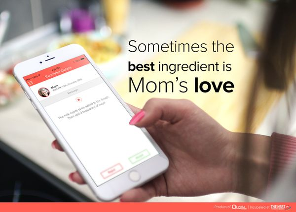 Sometimes the best ingredient is Moms love. Let RemindZapp help you in connecting. Download http://www.remindzapp.com/qr