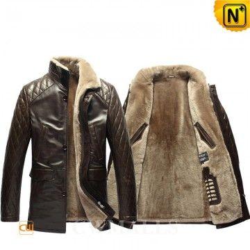 shearling lined men jacket