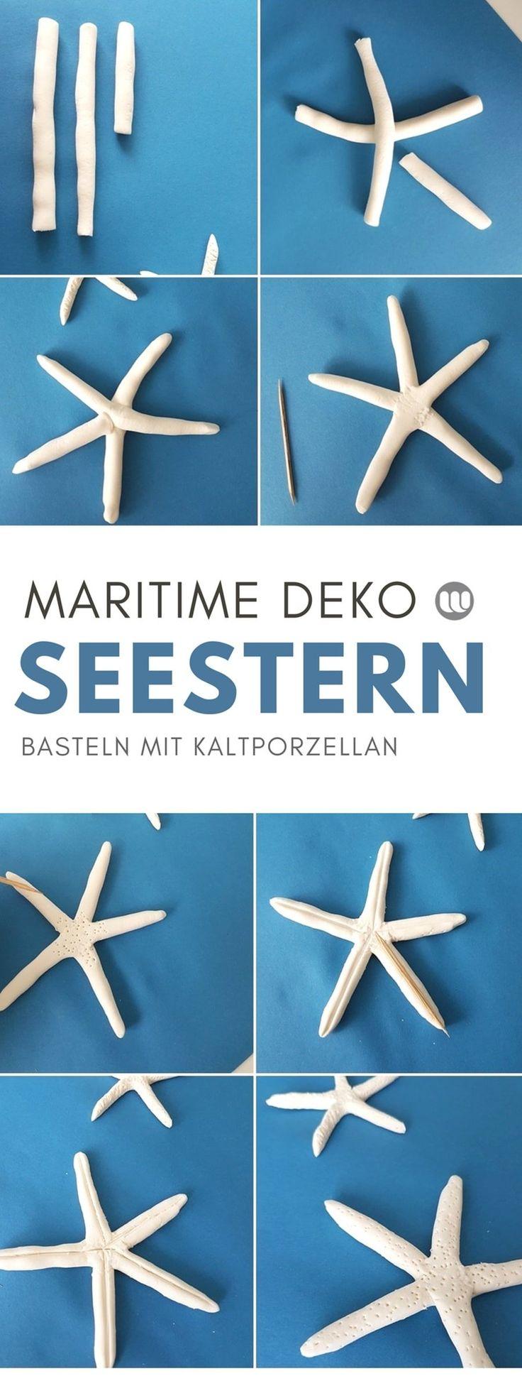 DIY Seesterne aus Kaltporzellan: Maritime Seestern Deko basteln