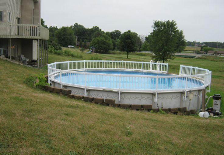 How To Install An Above Ground Pool Inground Pools Backyards Pinterest Ground Pools