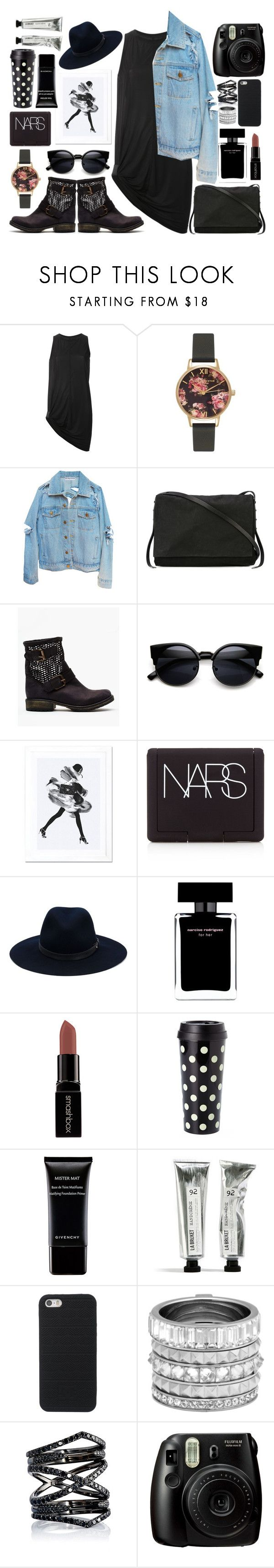 """My Secret Life."" by swanniboo on Polyvore featuring Rick Owens, Olivia Burton, Steve Madden, iCanvas, NARS Cosmetics, rag & bone, Narciso Rodriguez, Smashbox, Kate Spade and Givenchy"