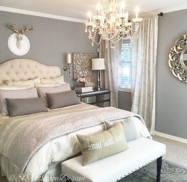 House Decorations Dream Bedroom Guest Gray Master Benjamin Moore Paint Colors Wickham