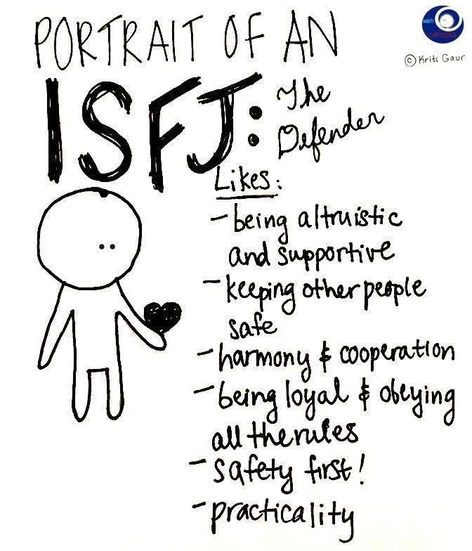 Portrait of an ISFJ Except....I don't mind bending the rules a bit....