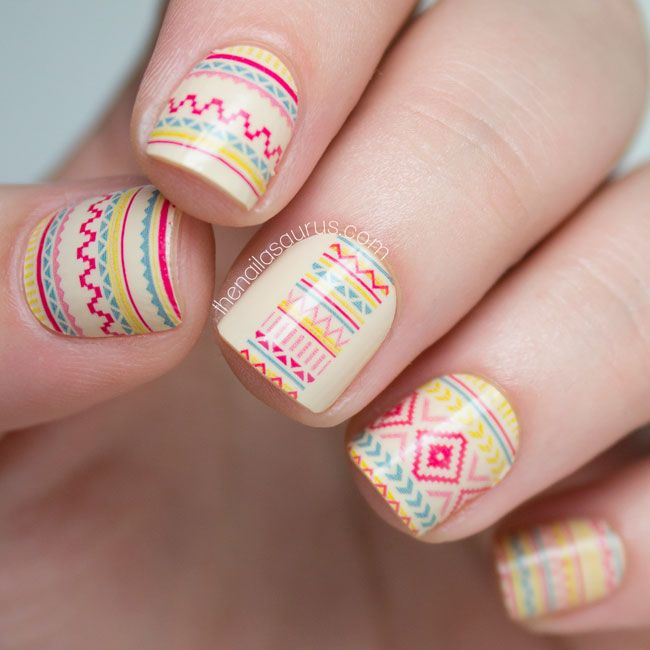 69 best nails tribal images on pinterest friends family incoco desert sunset tribal nail art wraps prinsesfo Image collections