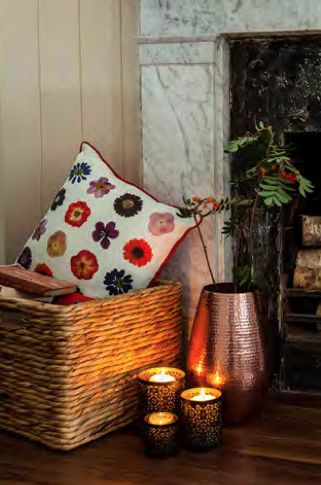 Add A Touch Of Subtle Elegance To Your Living Room With This Floral Cushion From Tesco