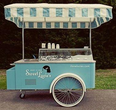Nos encanta este carrito al estilo Vintage! Perfecto para un negocio de postres como helados, crepas, pays y cafecito. Con Gel Ice puedes iniciar cualquiera de estos negocios, nosotros te ayudamos!